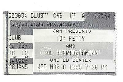 1995 Tom Petty and The Heartbreakers United Center Concert Ticket Stub