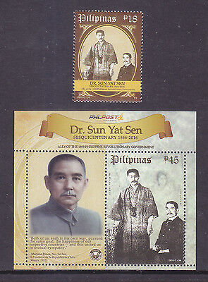 Philippines Stamps 2016 MNH Dr. Sun Yat Sen 150th Birth Anniversary complete set
