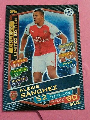 2016-17 Topps Match Attax Bronze Limited Edition Alexis Sanchez Champions League