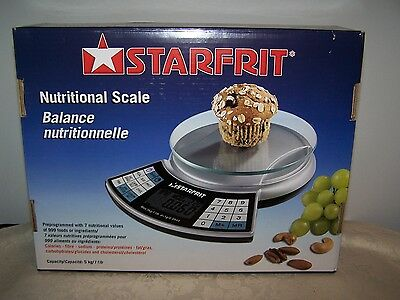 Starfrit 5 Lb. Nutritional Scale New In Box - Unused