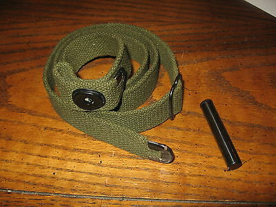 .30 M1 Carbine Sling and Oiler OD Green some rust on metal parts c-tip repro