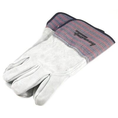 Forney 55199 Welding Work Glove, Large, Gray and Blue Leather