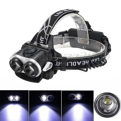 Elfeland 13000Lm 2x T6 LED Rechargeable Headlamp Headlight Head Torch USB 18650