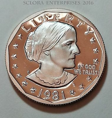 1981 S Susan B. Anthony (Sba) *proof*  Dollar   *type Ii (2)*