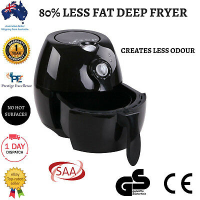 Air Fryer Oil Free Deep Healthy Cooker Airfryer Low Fat Rapid Black NEW Kitchen