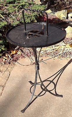 Vintage Wrought Iron Smoking Stand Ashtray