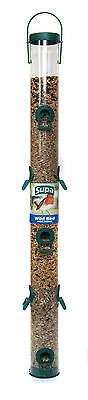 "Supa Supa Plastic 10 Port Seed Feeder Green 76cm (30"") Wild Bird Feeder"