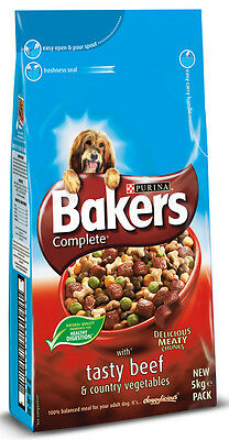 Purina Bakers Complete Adult Beef & Country Veg 5kg Dog Food Dry Adult