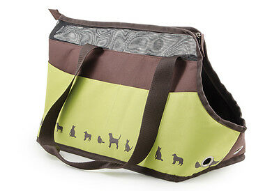 Ancol Carry Bag Chocolate & Lime 45x28cm Fabric Cat Dog & Pet Carrier