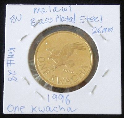 Brilliant & Uncirculated Two Coin Set ~ 1996 Malawi One Kwacha &  Twenty Tambala