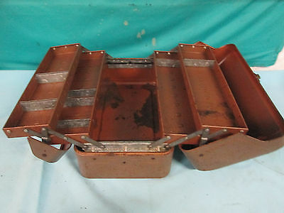 Vintage JC Higgins Cantilever Tackle Box Fishing Toolbox COOL Antique