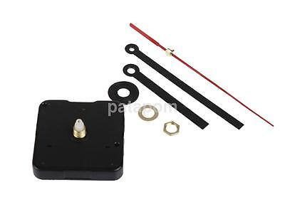 Black & Red Hands DIY Quartz Clock Movement Mechanism Repair Tool Parts Kit Set