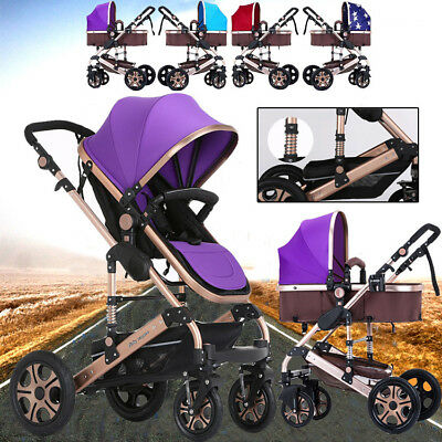 New Kid Baby Child Stroller Pram Bassinet 4In1 Luxury Reversible Jogger