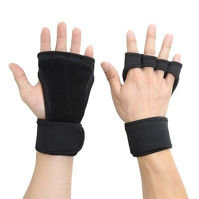 Half Finger Gloves Wrist Wrap Support for Weightlifting Dumbbell Fitness Sports