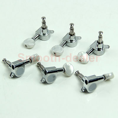 Hot Chrome Inline Guitar String Tuning Pegs Tuners Machine Head 6R Right
