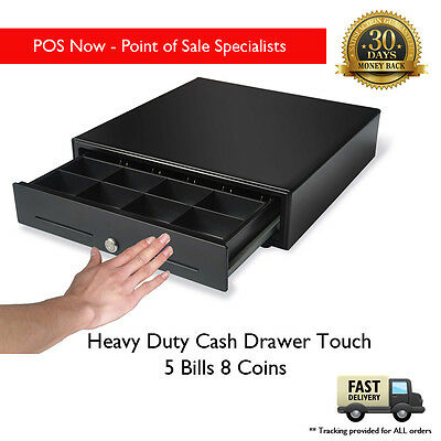 Heavy Duty Cash Drawer Touch W/ Lockable Cover