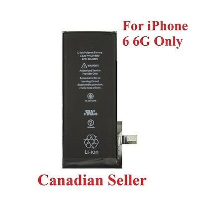 New 1810mAh Li-ion Internal Battery Replacement for iPhone 6 6g 4.7""