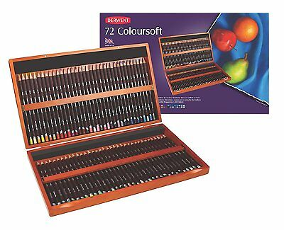 Derwent Coloursoft Colouring Pencils Wooden Box of 72