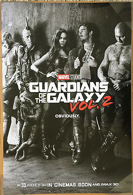 GUARDIANS OF THE GALAXY Vol. 2 MOVIE POSTER 2 Sided ORIGINAL INTL Advance 27x40