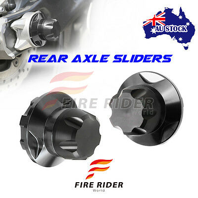 For Yamaha MT-07 FZ-07 14 15 16 17 FRW Black 2pcs REAR Axle Protector
