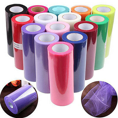 6'' 25Y Tulle Roll Spool Gift Bow Sewing Bridal Skirt Wedding Favours Eager