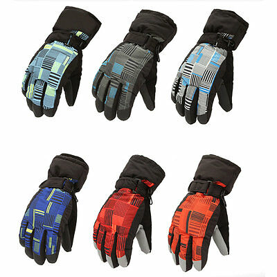 Man Woman Winter Outdoor Exercise Waterproof Thicken Riding Skiing Gloves AU
