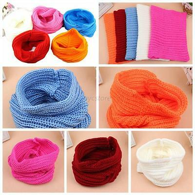 Baby Kids  Knitted Scarf Boys Girls Toddler Crochet Knitted Winter Warm Scarves
