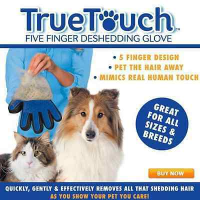 1PC True Touch Deshedding Glove for Gentle Efficient Pet Grooming As Seen On TV