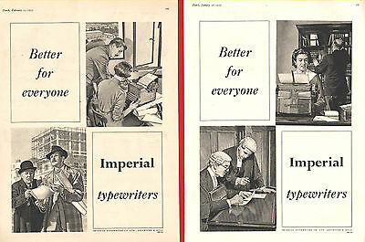 IMPERIAL TYPEWRITERS    (1955 Advertisements x 2)
