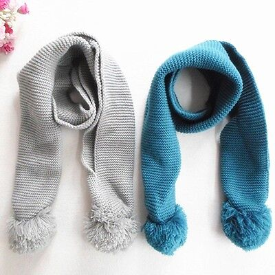 Winter Infant Baby Neck Scarf Child Knitting Wool Scarves Shawls Multi-Color