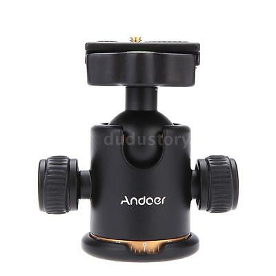 "Andoer Tripod Ball Head Ballhead+Quick Release Plate 1/4""Screw For Cam Y1A8"