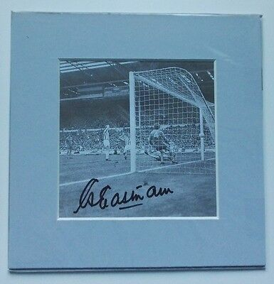 """1972 LEAGUE CUP FINAL STOKE CITY EASTHAM SIGNED PICTURE  6"""" x 6"""" MOUNTED DISPLAY"""