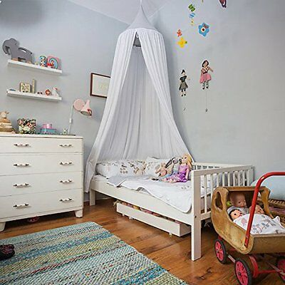 Canopy Cotton Bed Netting Mosquito Bedding Net for Baby Kids Reading White