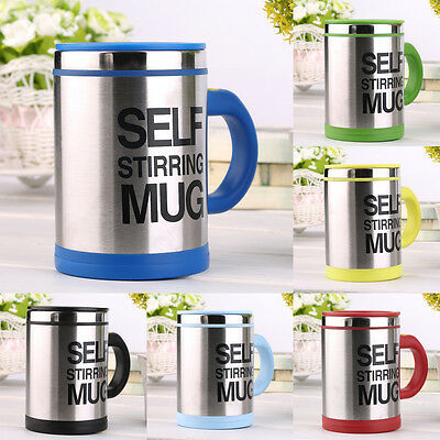 400ml Stainless Self Stirring Mug Auto Mixing Drink Tea Coffee Cup Home LE