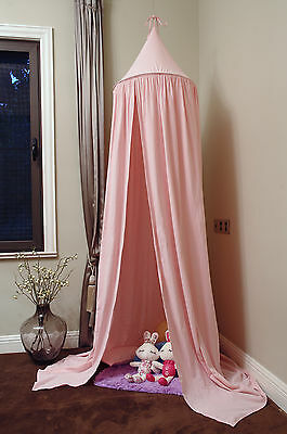 Canopy Bed Netting Mosquito Bedding Net for Baby Kids Reading Cotton Pink