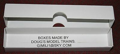 10x  WHITE REPLACEMENT CARD  BOX TRAINS LOCO COACH N GAUGE