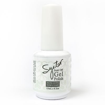 15 ml SYSTER NON-WIPE TOP COAT Gel for Nail Art Soak Off Color UV Gel Polish
