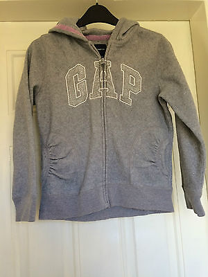 Girls Grey Fleece Hooded Gap Jacket Sparkly Age 10-11 Years