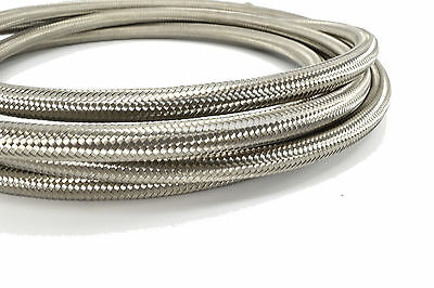 10 Feet - 10AN Stainless Steel Braided Hose for Fuel Oil Coolant Air -10 AN
