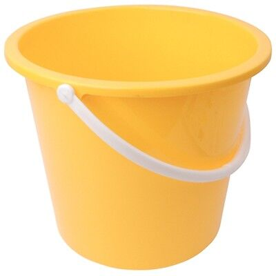 Jantex Round Plastic Bucket Yellow 10Ltr /Commercial Restaurant Hotel B&B Cafe