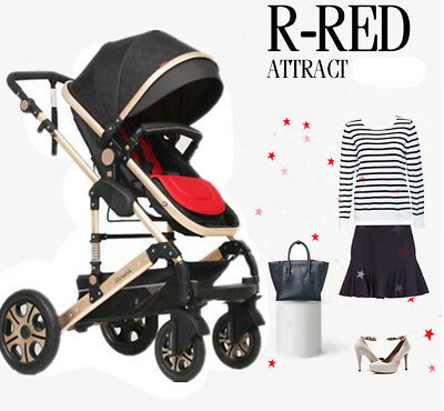 2018 NEW 8 in 1 Baby Toddler Pram Stroller Foldable Buggy Jogger With Bassinet