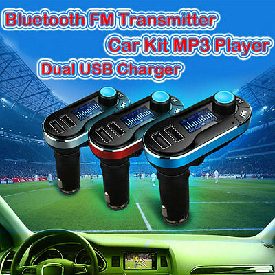 Bluetooth Car Kit MP3 Player FM Transmitter USB Charger For iPhone 6s Samsung