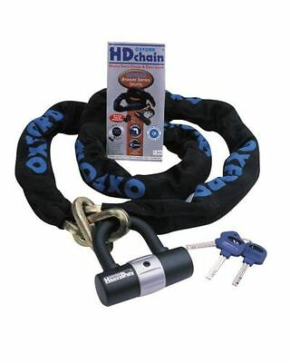 Oxford Motorcycle Bike HD Chain & Lock 1M Security Padlock Sold Secure New