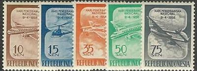 Indonesia 1958    Aircraft  Set  (Mh)