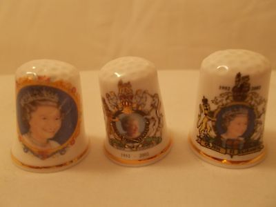 China Thimbles - HRH The Queen