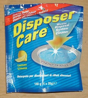 DISPOSER CARE WASTE DISPOSAL GARBAGE DISPOSAL CLEANER LEMON SMELL ODOUR 4 x 35G