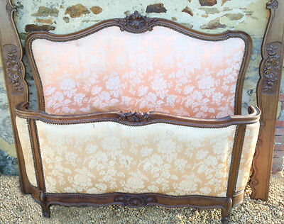 Wonderful French Upholstered Demi-Corbeille Double Bed