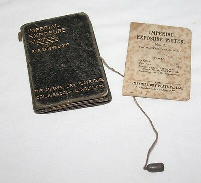 Imperial Exposure Meter Calculator for Bright & Dull Light - Vintage