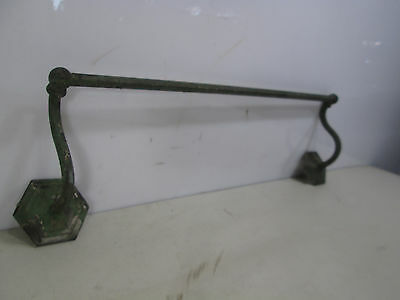 Vintage Sternau Co. Brass Towel Bar- Curved Arm Design -Great Paint