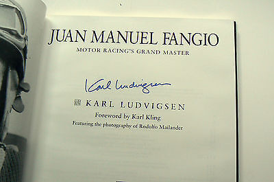 J M Fangio, Grand Master SIGNED Karl Ludvigsen, numbered, special edition VGC